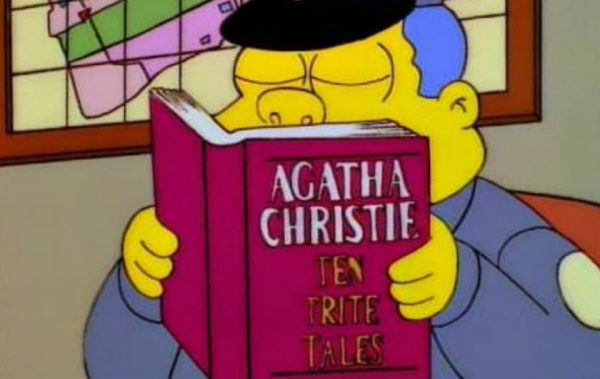 the Simpsons Agatha christie
