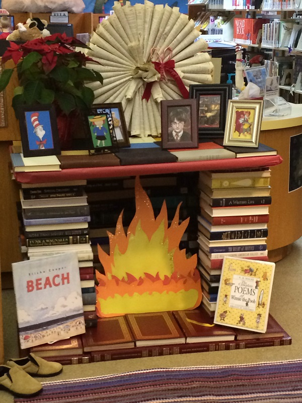 book-fireplace