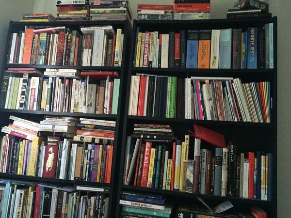 crammed-bookshelf
