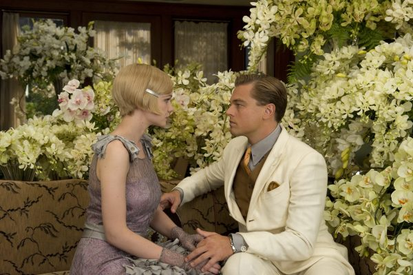 """(L-r) CAREY MULLIGAN as Daisy Buchanan and LEONARDO DiCAPRIO as Jay Gatsby in Warner Bros. Pictures' and Village Roadshow Pictures' drama """"THE GREAT GATSBY,"""" a Warner Bros. Pictures release."""