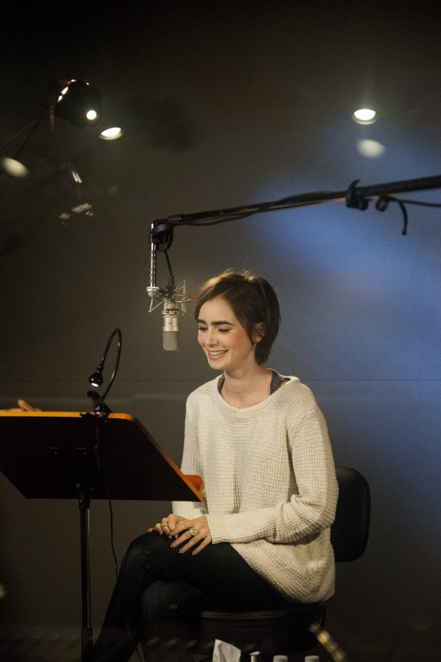 VIDEO: Behind The Scenes With Lily Collins, Narrator Of 'Peter Pan'