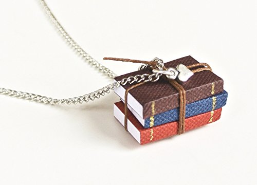 Miniature-Book-Necklace-Set-of-3-Mini-Books-for-the-Book-Lover-Bookworm-Loves-to-Read-Mini-Heart-Charm-0