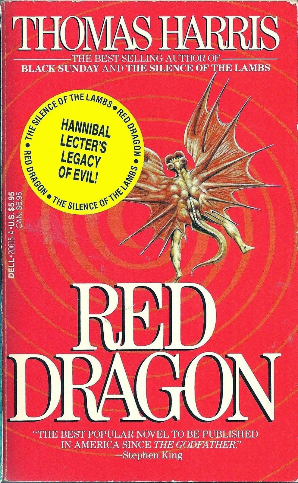 Red Dragon 1990s reprint Thomas Harris