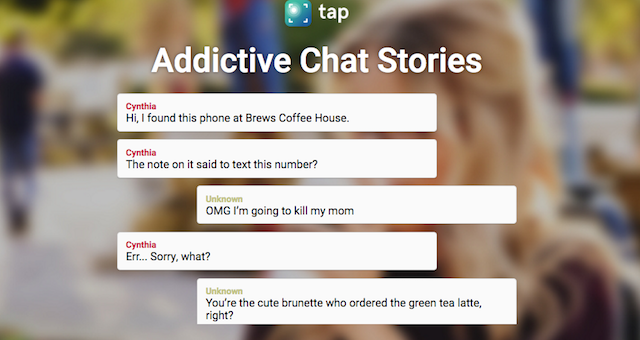 Wattpad's 'Tap' App Lets You Read Short Stories In Chat Format