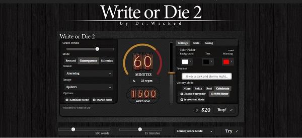 write-or-die