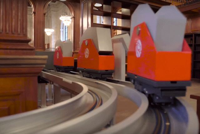 Behold New York Library's Book Roller Coaster