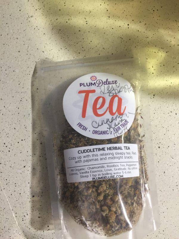 cuddletime tea plum deluxe teas