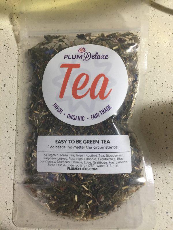 easy to be green plum deluxe tea
