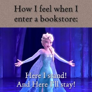 frozen book meme