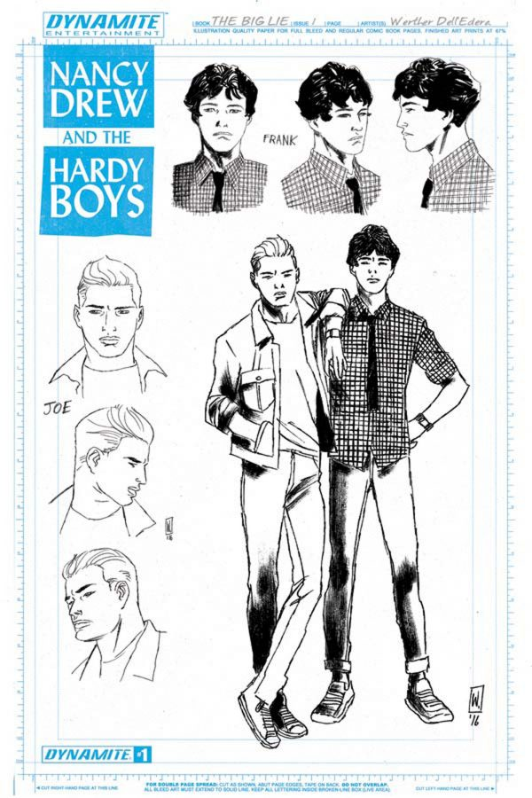 Source: Entertainment Weekly. Hardy Boys character sketches by Werther Dell'Edera.