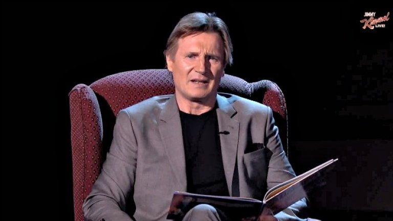 VIDEO: Liam Neeson Reads a Bedtime Story