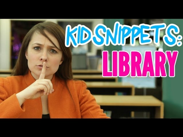 """VIDEO: Kid Snippets: """"Library"""" (Imagined By Kids)"""