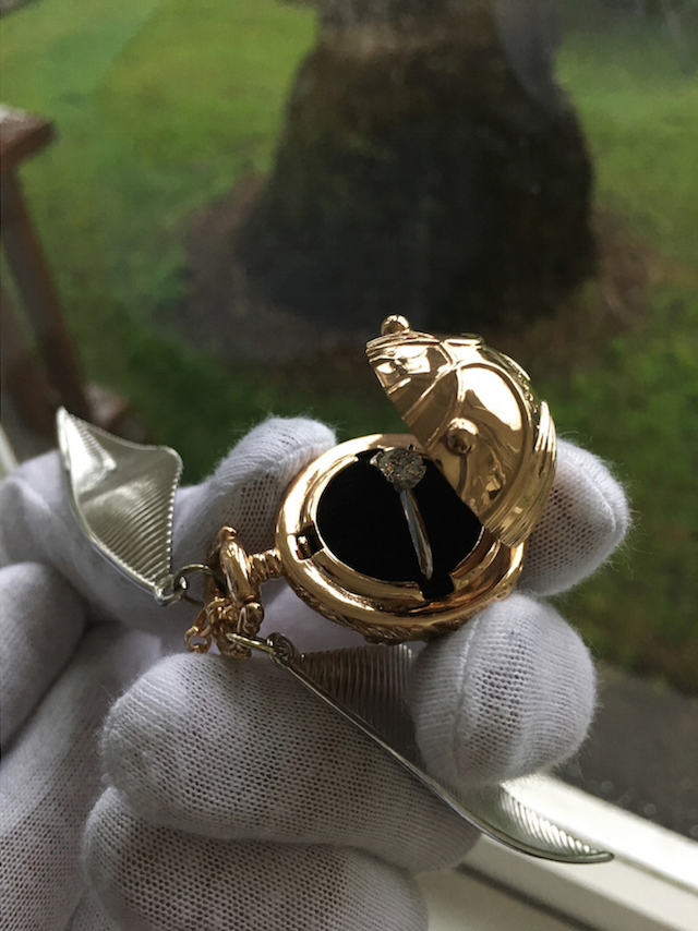 Golden Snitch Engagement Ring Boxes Exist Now